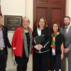 코리아 피스 네트워크, 워싱턴 DC에서 상하원 의원들에 로비