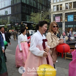 맨해튼서 韓불교 제등행렬