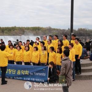 416합창단 '나이아가라 버스킹' 공연