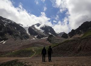 천산의 빙하를 바라보는, 침블락(Chimbulak)